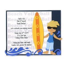 Beach Volleyball Party Invitation