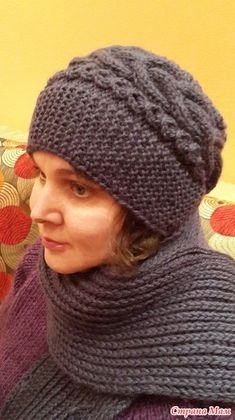 Knit Crochet, Crochet Hats, Chunky Scarves, Beanie Pattern, Scarf Hat, Winter Trends, Beret, Color Trends, Womens Scarves