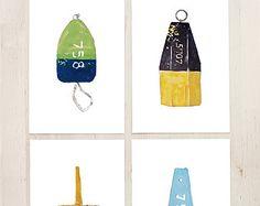 Nautical Buoys Art Print Set