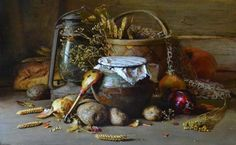 Yury Nikolaev Russain Still Life Paintings