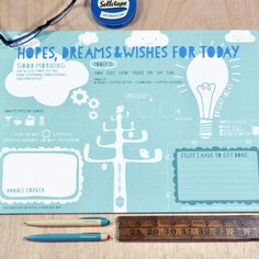 Bread and Jam's Hopes Dreams & Wishes Desk Jotter