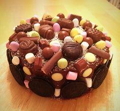 Double chocolate fudge celebration cake