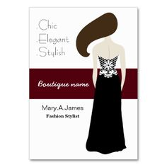 fashion boutique Business Cards. Make your own business card with this great design. All you need is to add your info to this template. Click the image to try it out!