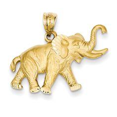 14k Elephant Pendant C110