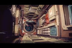 Polycount Forum - View Single Post - What Are You Working On? Sci Fi Background, Landscape Background, Spaceship Interior, Futuristic Interior, Sci Fi Environment, Environment Design, Digital Sculpting, Stargate, Sci Fi Art
