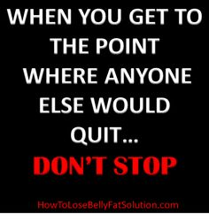 Fitness Motivational Quote-Don't quit!
