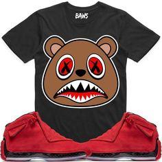 CINNAMON BAWS Black Sneaker Tees Shirt - Jordan 18 Red Suede 62fe1fb2f