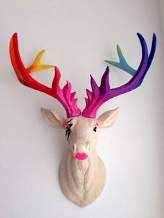 LARGE Unique decoration Stag Head Taxidermy Deer 'GaGa' in Home, Furniture & DIY, Home Decor, Wall Hangings | eBay!