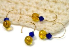 Lemon Blueberry Removable Stitch Markers Set Crochet by TJBdesigns