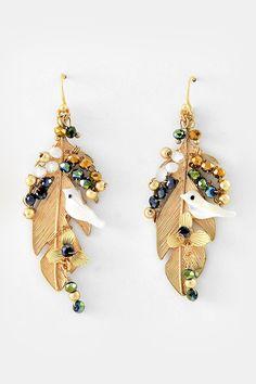 Hummingbird Crystal Earrings on Emma Stine Limited