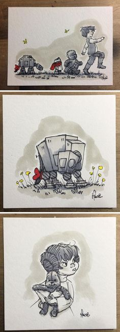 Florida-based British artist James Hance's new series Wookie the Chew images Star Wars characters as Winnie the Pooh
