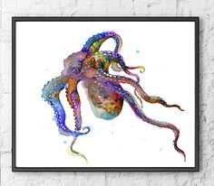 Hey, I found this really awesome Etsy listing at https://www.etsy.com/listing/239256813/art-print-octopus-watercolor-painting
