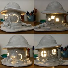 Paper clay & Soda Bottle Fairy House