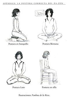 Posturas meditación