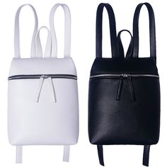 Simple Designer Small Backpack Women White and Black Travel PU Leather Backpacks Ladies Fashion Female Rucksack Back Bags #clothing,#shoes,#jewelry,#women,#men,#hats,#watches,#belts,#fashion,#style