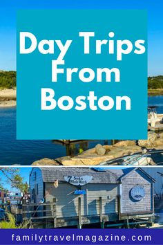 Boston Massachusetts offers lots of things to do with kids, but there are also some fabulous day trips that you can take from the city. Here are some of the best Boston day trips with kids to add to your bucket list - for summer, spring, winter, and fall. Best Vacation Spots, Best Vacations, Vacation Destinations, Day Trips From Boston, Sea Whale, New England Travel, Boston Massachusetts, Whale Watching, Portsmouth
