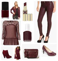 Anything oxblood. Nail polish, lipstick, skinny jeans (leather i wish)