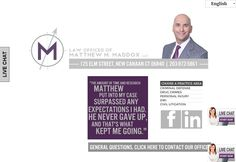 Attorney Matthew M. Maddox represents clients in criminal and motor vehicle matters throughout the State of Connecticut as well as litigates civil matters ranging from serious bodily injury to commercial and contract disputes. http://themaddoxlawfirm.com/