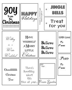 CHRISTMAS PRINTABLES-Sweetly Scrapped: 12 Days Of Christmas Giveaway ...