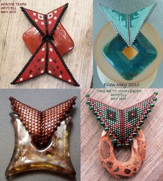 Beaded Peyote Triangles: Part II: More Ideas, Patterns, and Stunning Jewelry Inspiration Peyote Patterns, Beading Patterns, Bracelet Patterns, Triangles, Peyote Beading, Beadwork, Peyote Stitch, Beaded Jewelry, Seed Beads