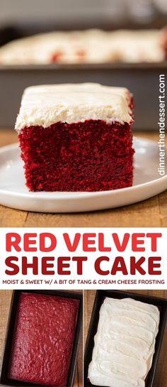 Sheet Cake Recipes, Cake Recipes From Scratch, Easy Cake Recipes, Best Red Velvet Cake Recipe From Scratch, Top Recipes, Cupcake Recipes, Delicious Recipes, Homemade Red Velvet Cake, Kuchen