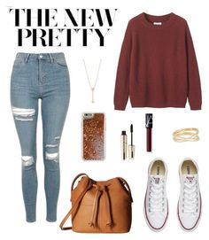 """""""Untitled #127"""" by jade234 ❤ liked on Polyvore featuring Topshop, Toast, Converse, Maison Margiela, ECCO, L'Oréal Paris, EF Collection, NARS Cosmetics and Agent 18"""