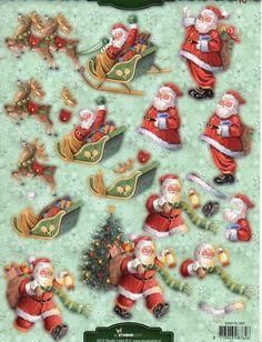 Jolly Santa Christmas Die Cut Decoupage Cardmaking Kit Makes 15 Cards