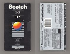 Blank VHS Cassette Packaging Design Trends: A Lost Art - Flashbak Vhs Cassette, Vhs Tapes, Pokemon Movies, Scotch Tape, The Inventors, Lost Art, Made Video, Time 7, Design Trends