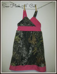 Camo and Hot Pink Criss Cross dress by SewHookNCut on Etsy, $30.00