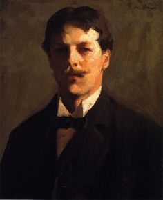 "Self Portrait, Frank W. Benson 1862-1951 American impressionist and member of ""The Ten"" American painters."