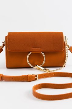 Mareen Suede O Ring Crossbody O Ring, Love Bracelets, Chloe, Shoulder Bag, Handbags, Detail, Gold, Accessories, Products