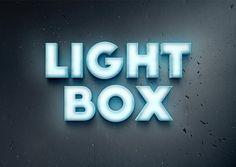 Lightbox Text Effect