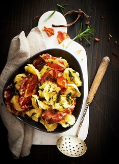 Tortellini with rosemary butter and Coppa