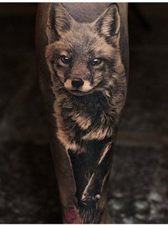 Angelique Grimm fox tattoo