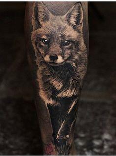 Angelique Grimm fox tattoo
