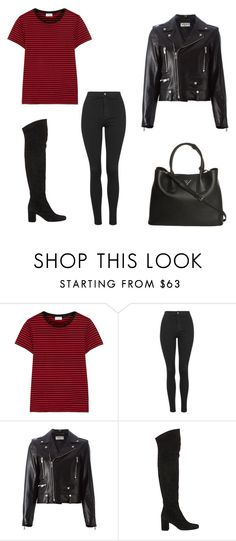 """Untitled #9080"" by andreeascafariu ❤ liked on Polyvore featuring moda, Yves Saint Laurent, Topshop, Prada, women's clothing, women, female, woman, misses e juniors"