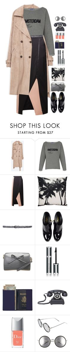 """*1469"" by cutekawaiiandgoodlooking ❤ liked on Polyvore featuring Zara, Comptoir Des Cotonniers, Yves Saint Laurent, Givenchy, Royce Leather, Dot & Bo, Christian Dior, Linda Farrow, WorkWear and midiskirt"