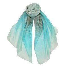 Redmayne - Contemporary striped silk scarf with ombre effect is an instant classic.