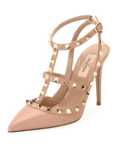 324f149fc20d Valentino Garavani Rockstud Leather Caged Pump