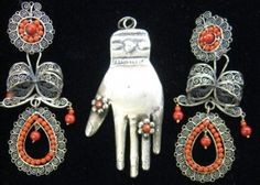 Mexican Vintage Sterling Silver Jewelry ♥♥♥ Frida Style!