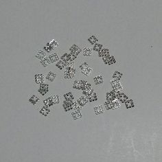 2mm Small Silver Fancy Square Frames 50pcs · ocean nails 2 · Online Store Powered by Storenvy