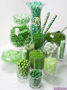 Green Candy Buffet  but were also having white gold and brown candy!