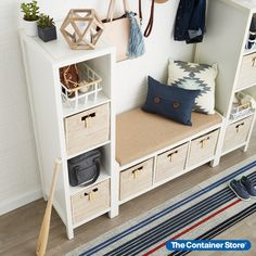 One look and you'll agree - our Rattan Cube is simply a gorgeous storage and organization solution! Each is handwoven with a quality that's second to none. You'll love that the Cube is sized to fit within a variety of our shelving options and its integrated handles make it easy to remove from a shelf or move from room to room. Use the cube in the living room to corral magazines, playroom for toys, the craft room to organize or the mudroom/entryway for shoes and other accessories! Toy Storage Cubes, Entryway Organization, Fabric Storage, Mudroom, Rattan, Playroom, Shelving, Magazines, Organize