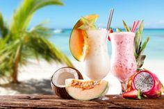 Tropical Cocktails - Beach, Fruit, Tropical, Fresh, Drink, Sea, Cocktail, Palm, Mojito Cocktail, Tropical Fruit