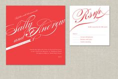 Digital Printable Customized Red Wedding Invitation Collection