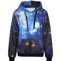 Zmart Women's Allover Print Kangaroo Hoodie Sweater Jacket A0814JK011... ($18) ❤ liked on Polyvore featuring tops, hoodies, blue hoodie, all over print hoodies, hooded sweatshirt, blue hoodies and hooded pullover