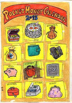 Kalendář na kapesné pro malé angličtináře s úpravou rodičovského styku