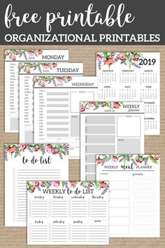 Floral Monthly Planner Template Pages Free Printable. Printable day planner page… Floral Monthly Planner Template Pages Free Printable. Printable day planner pages with coordinating flowers. Printable planner pages. Printable Day Planner, Monthly Planner Template, Printable Paper, Happy Planner, 2015 Planner, Blog Planner, Schedule Printable, Menu Planning Printable, Calendar Printable