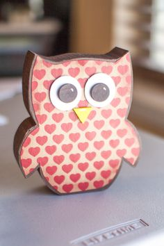 Red Chandelier: Wooden Owls