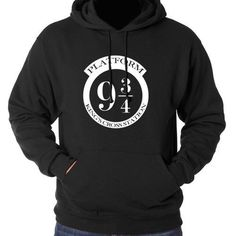 9 3/4 Platform Hoodie - Harry Potter Black Sweatshirt